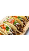 BEEF TACOS - Flavorful ground beef with Nonnie's own blend of Seasonings with cheese & tortillas