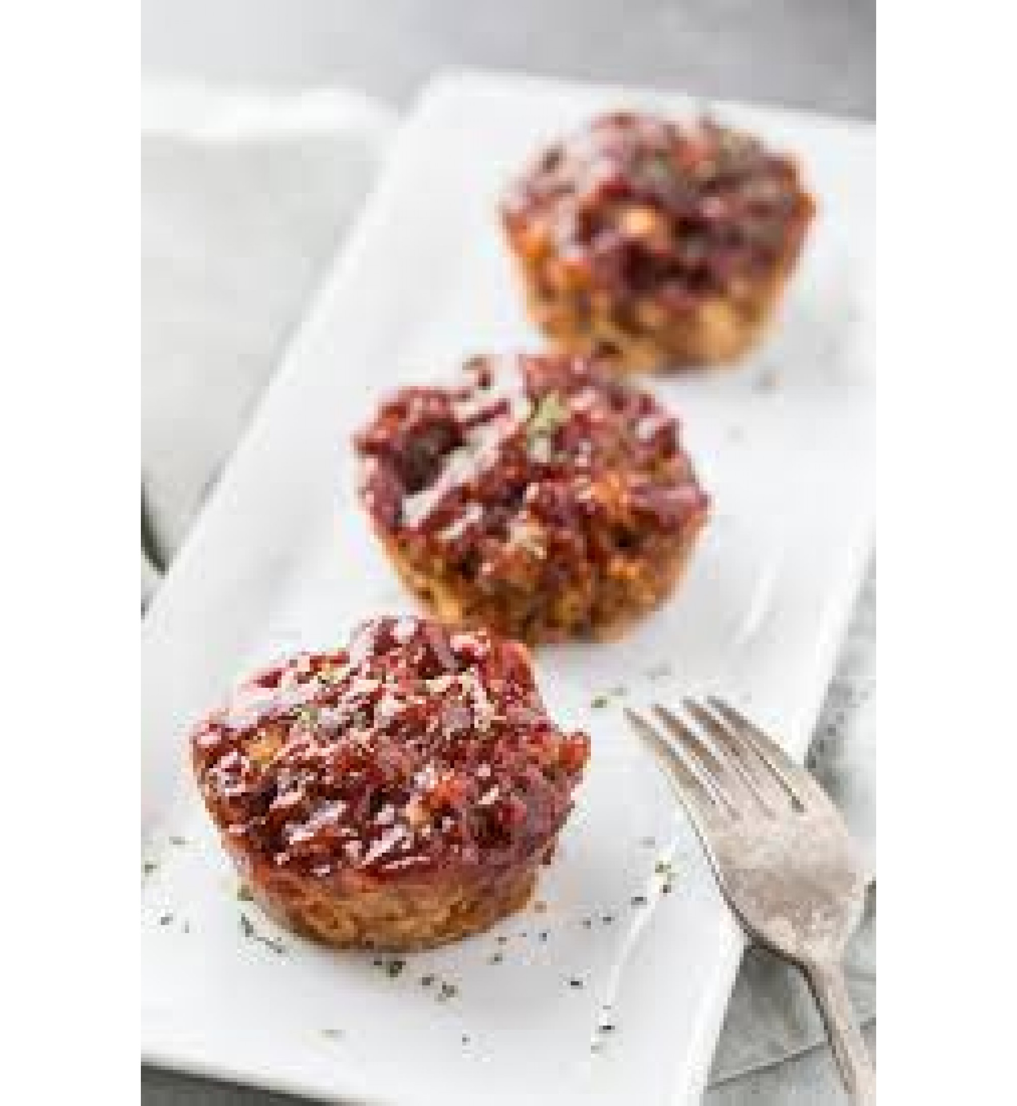 Meatloaf Muffins w/cheddar cheese & Bacon