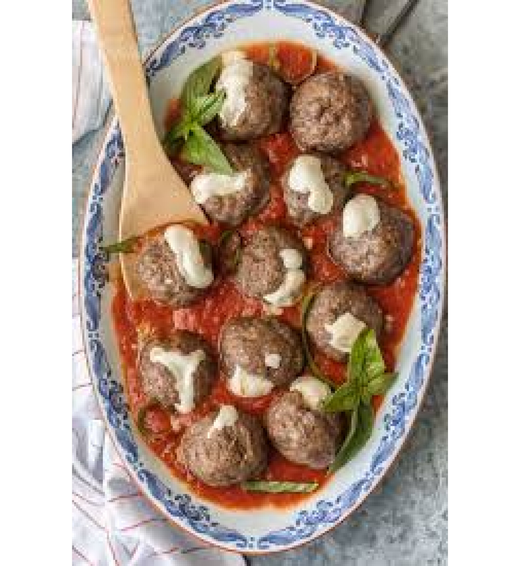 Stuffed Meatballs with Pasta & Marinara