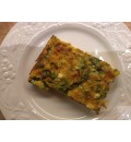 Frittata - Mushroom, Spinach & Egg with bit of cheese and Topped with Bacon {Microwave Reheat}