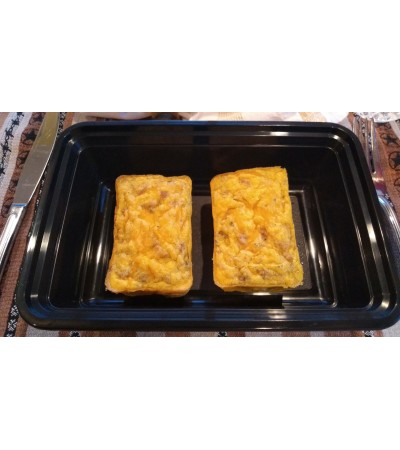 Frittata - Sausage & Egg with cheese {Microwave Reheat}