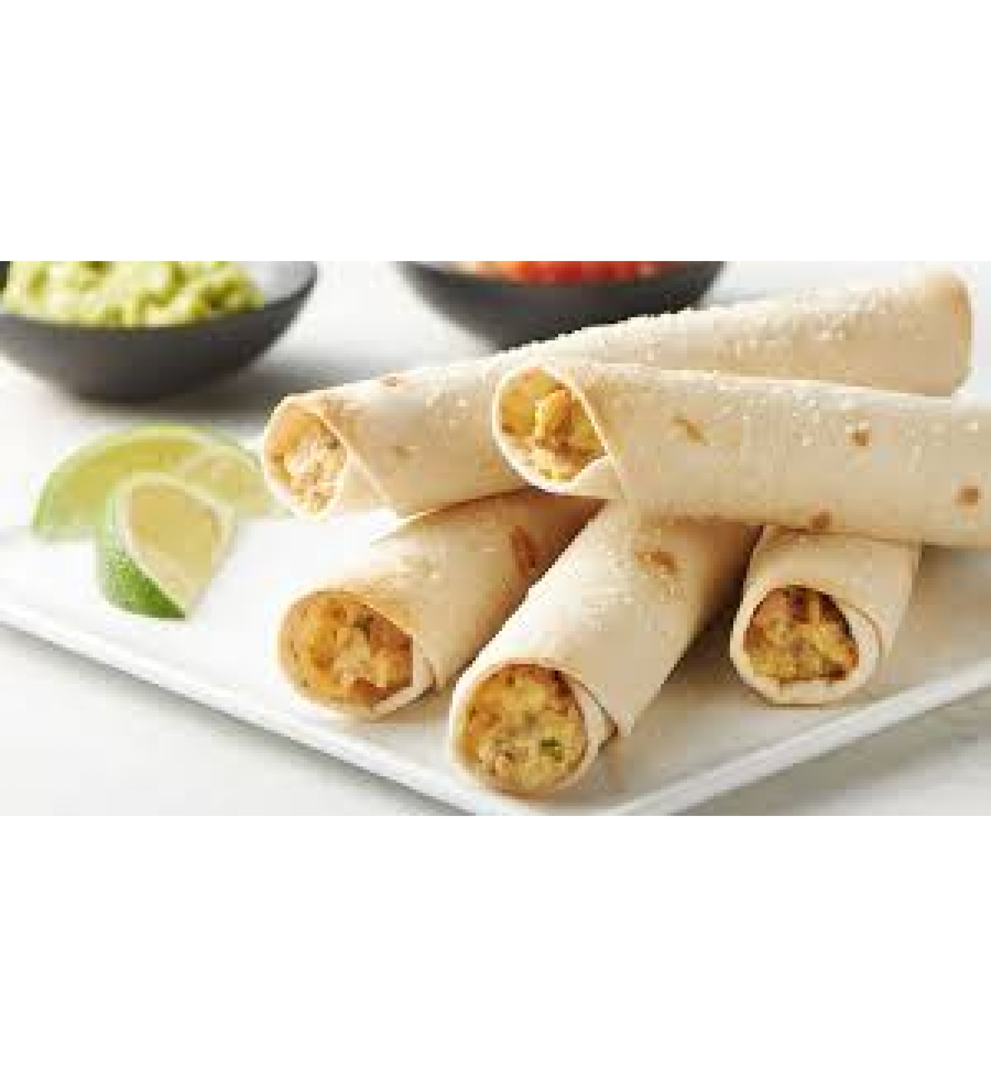 Chicken Taquitos w/Charro Beans