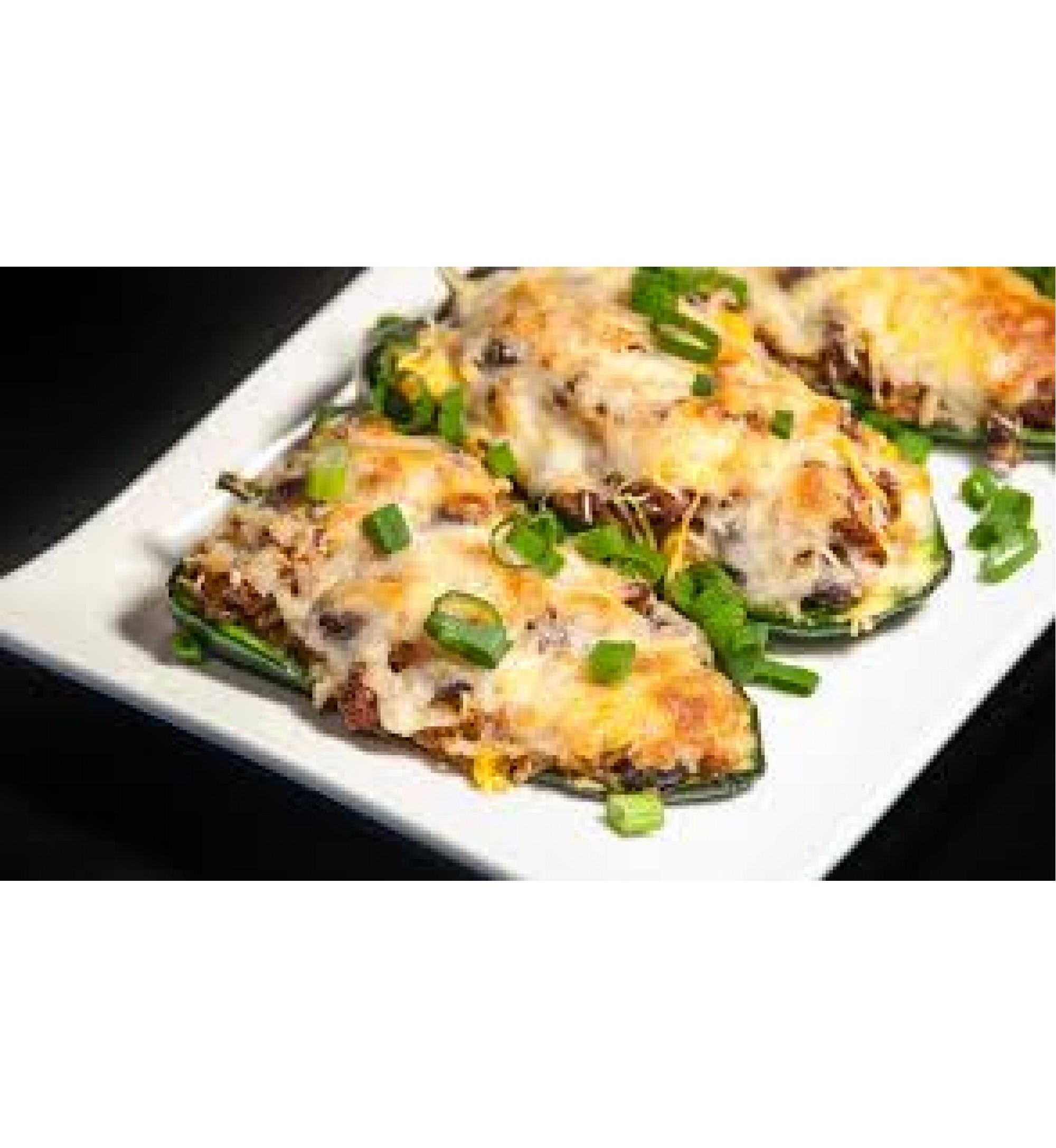 Poblanos stuffed with Cheddar & Chicken