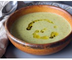 Roasted Poblano and White Cheese Soup